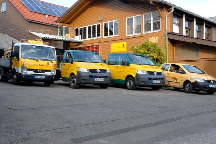 holzbau goetz - impressionen - fuhrpark ostfildern-kemnat